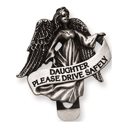 - Pewter Finish Daughter Guardian Angel Visor Clip Designer Jewelry by Sweet Pea