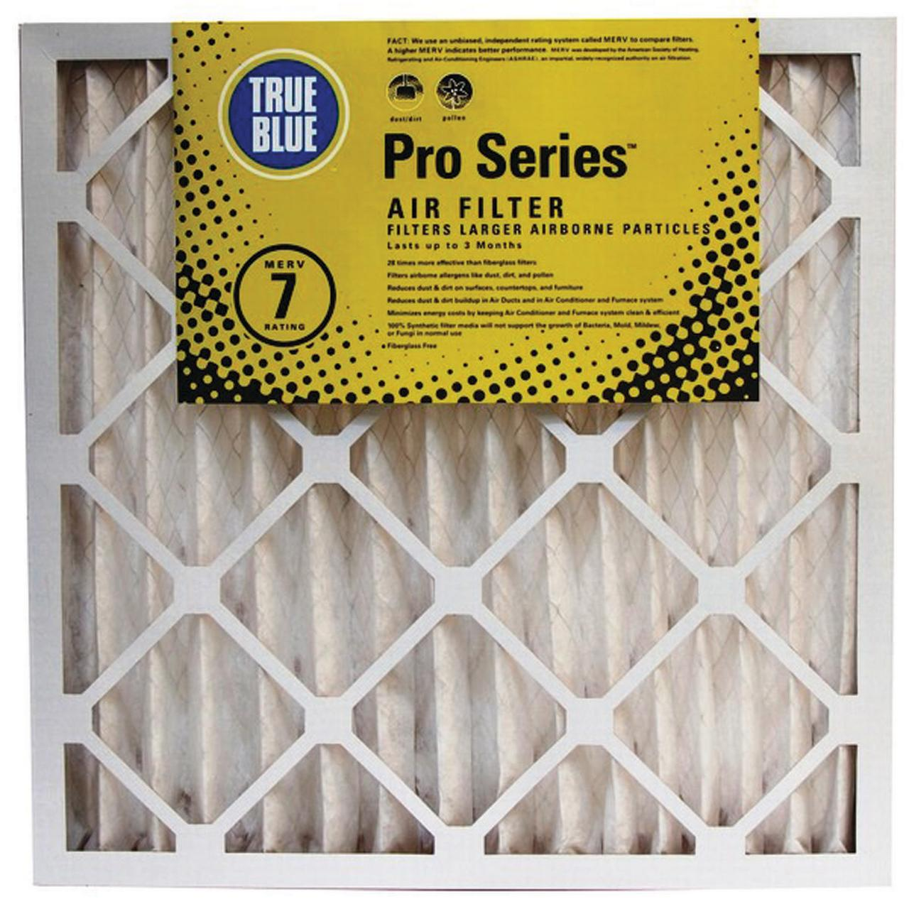 True Blue 220254 Pleated Air Filter, 20 in L x 25 in W x 4 in T