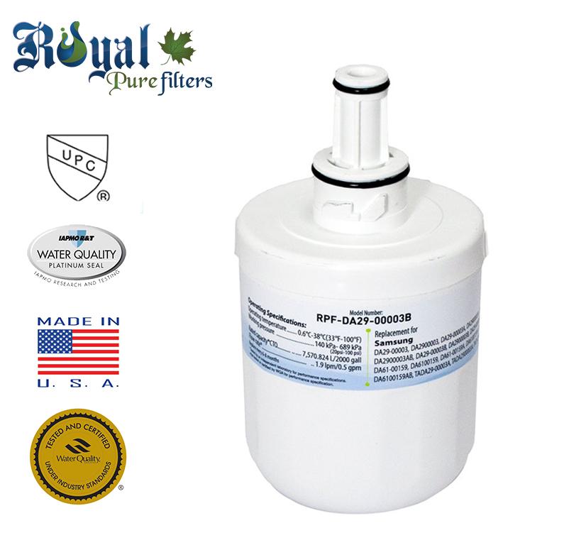 [1-Pack] Royal Pure Filters RPF-DA29-00003B Replacement Water Filter For Samsung DA290002, DA29-00002A, DA29-00003B, DA29-00003A , DA29-00003A-B, DA29-00003F, DA-2900003G, DA29-00003G, HAF-CIN, HAFEX