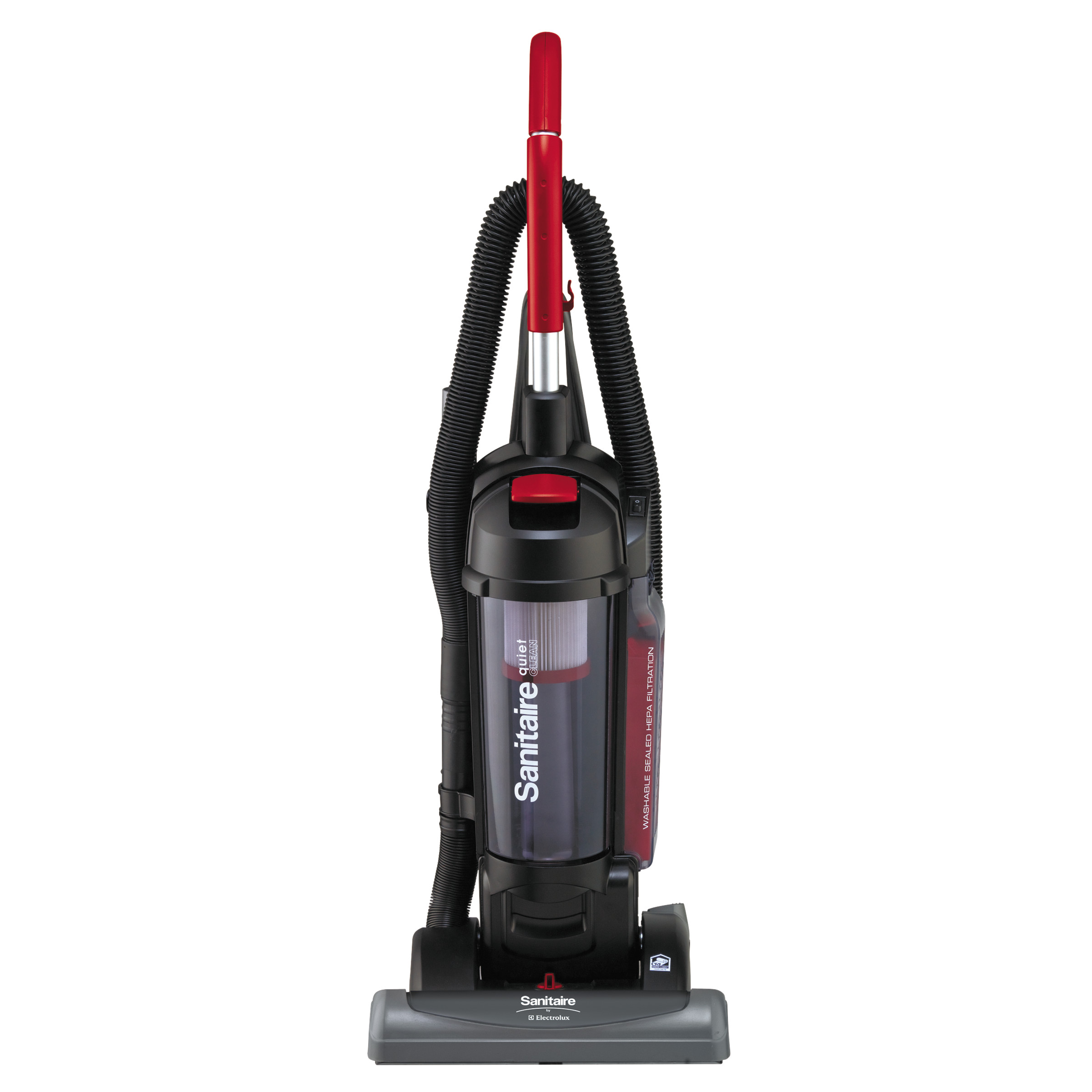 Sanitaire Bagless/Cyclonic Vacuum with Sealed HEPA Filtration, Red