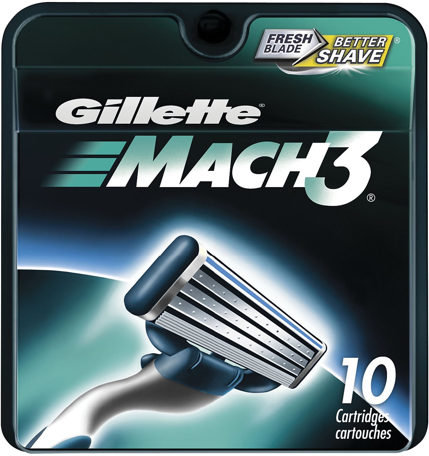 Gillette MACH3 Refill Cartridges 10 ea (Pack of 3)