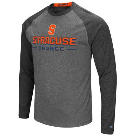 Syracuse Orange Ncaa   Ultra   Mens Long Sleeve Charcoal Raglan T Shirt
