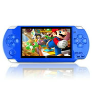 PSP High Definition Handheld Game Machine X6 8GB ,with 4.3 inch screen, Built-in over 10000 free games-blue