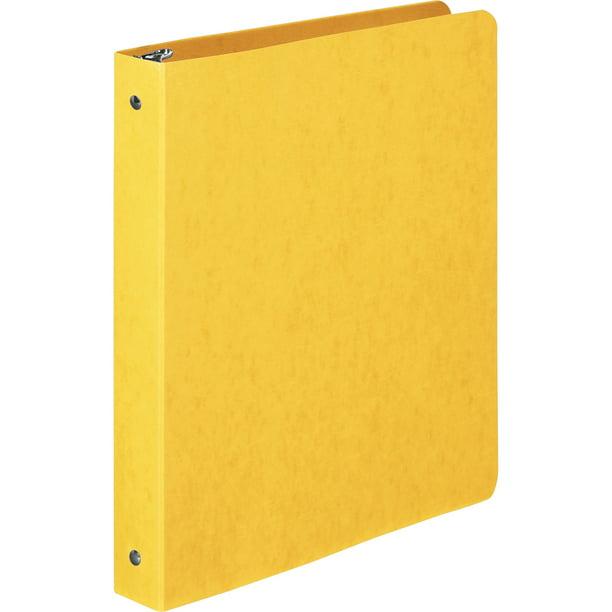 "Wilson Jones PRESSTEX Round Ring Binder, 1"" Cap, Yellow"