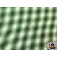 "Poly Poplin Gingham Fabric Mini Checkers 04 HUNTER GREEN / 58"" Wide / Sold by the yard"