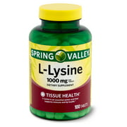 Spring Valley Lysine Amino Acid Supplements, 1 Tablet Per Serving, 100 Count