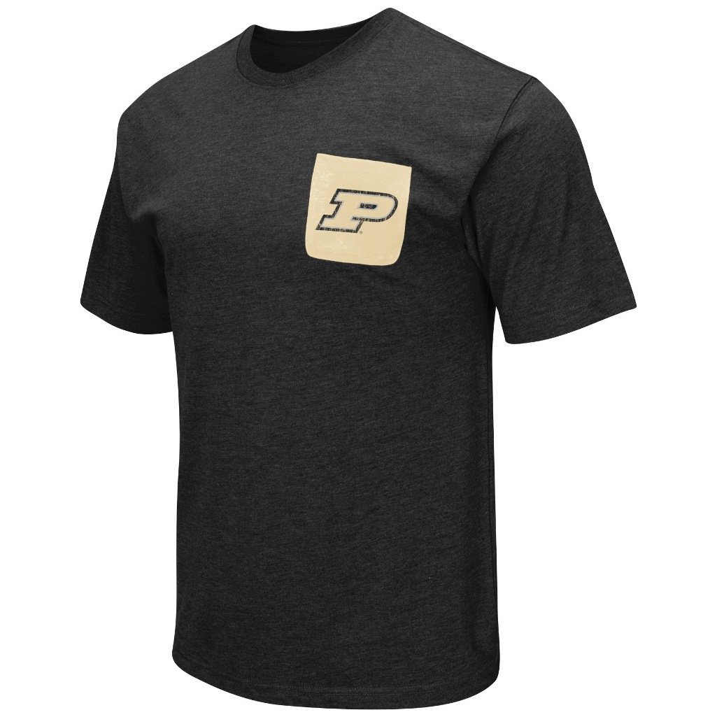 """Purdue Boilermakers NCAA """"Banya"""" Men's Dual Blend S/S Pocket T-Shirt"""