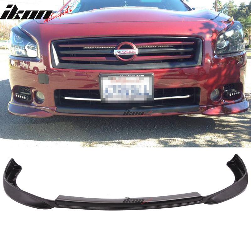 Fits 09-15 Nissan Maxima ST Style Front Bumper Lip Unpainted - Urethane
