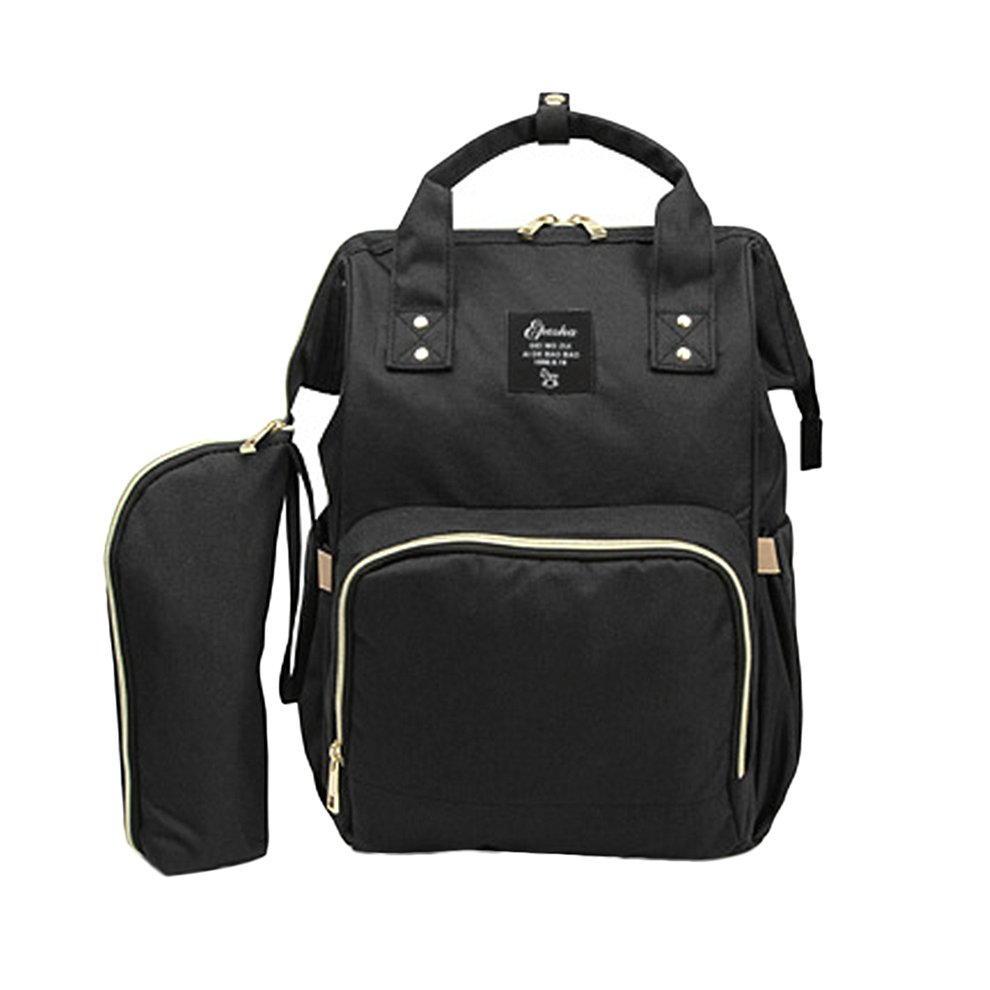 2PCS SET Large Capacity Baby Care Multifunctional Mommy Backpack Fashionable Design Mommy Diaper Bag Nappy Bag by OUTAD