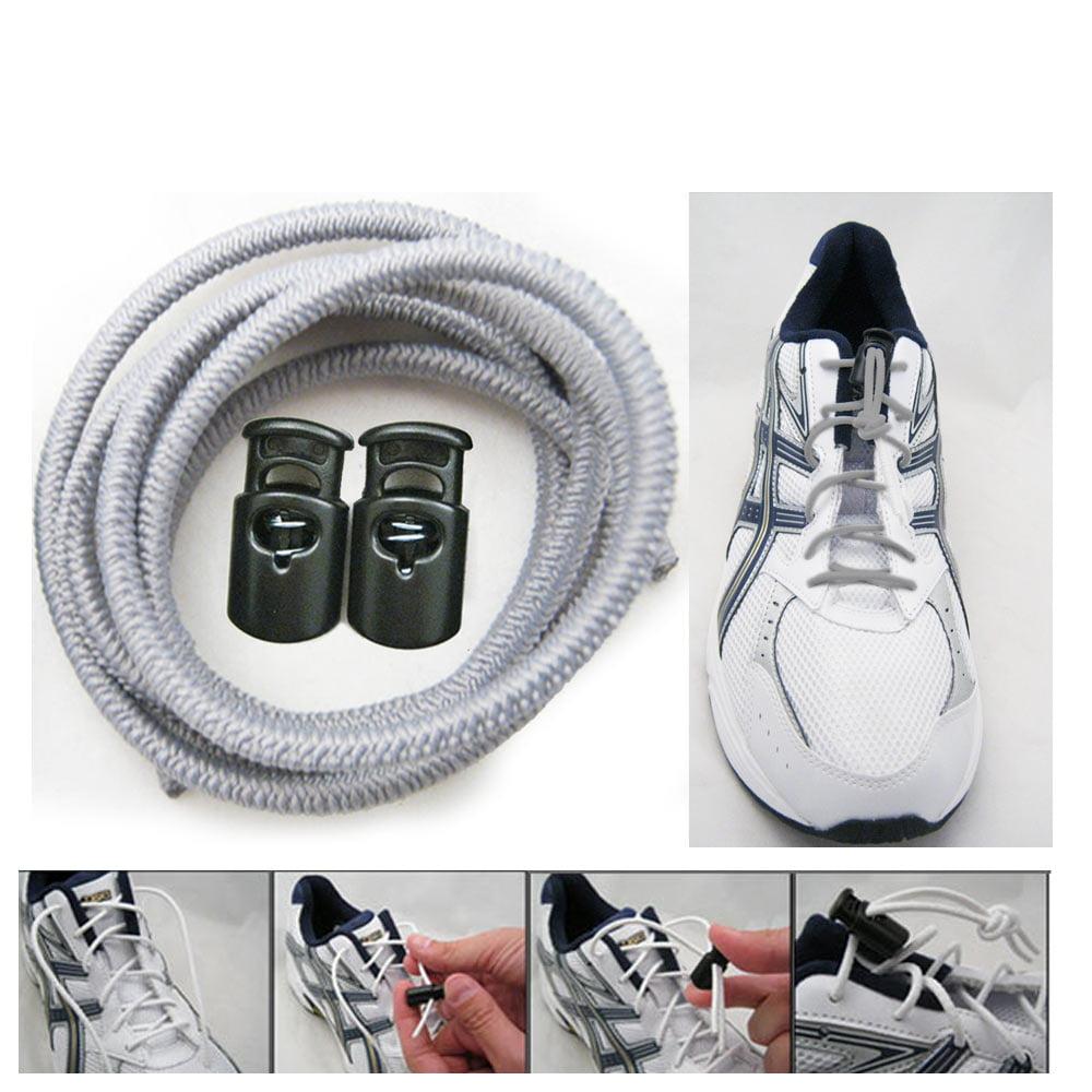 Elastic Shoe Laces Tie Fast Triathlon Marathon Running Run Shoelace Release Pink