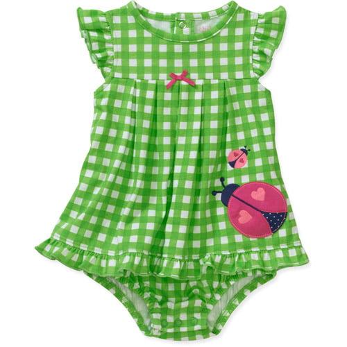Child of Mine by Carters Newborn Girls' Ladybug Check Sunsuit