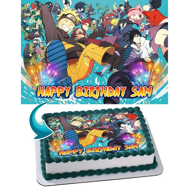 Tremendous Naruto Edible Cake Image Personalized Toppers Icing Sugar Paper A4 Personalised Birthday Cards Akebfashionlily Jamesorg