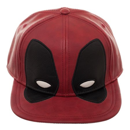 7c5d16d5dae Marvel Comics Deadpool Big Face Distressed PU Snapback Cap Hat - Walmart.com