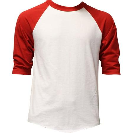 Mens 3/4 Sleeve Raglan Baseball T Shirt