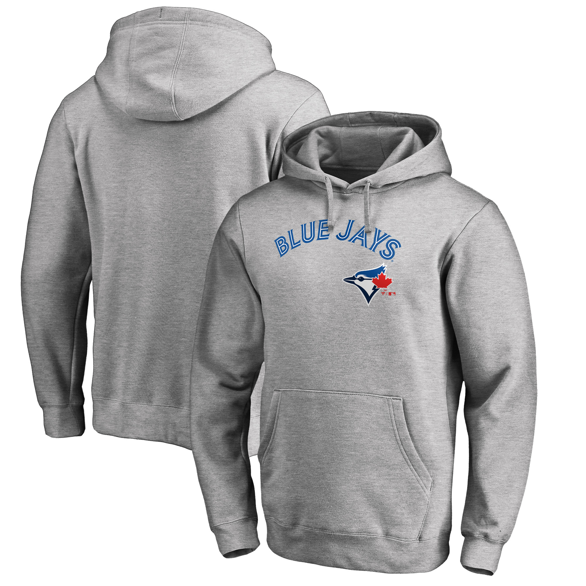 Toronto Blue Jays Fanatics Branded Big & Tall Team Lockup Pullover Hoodie - Heathered Gray