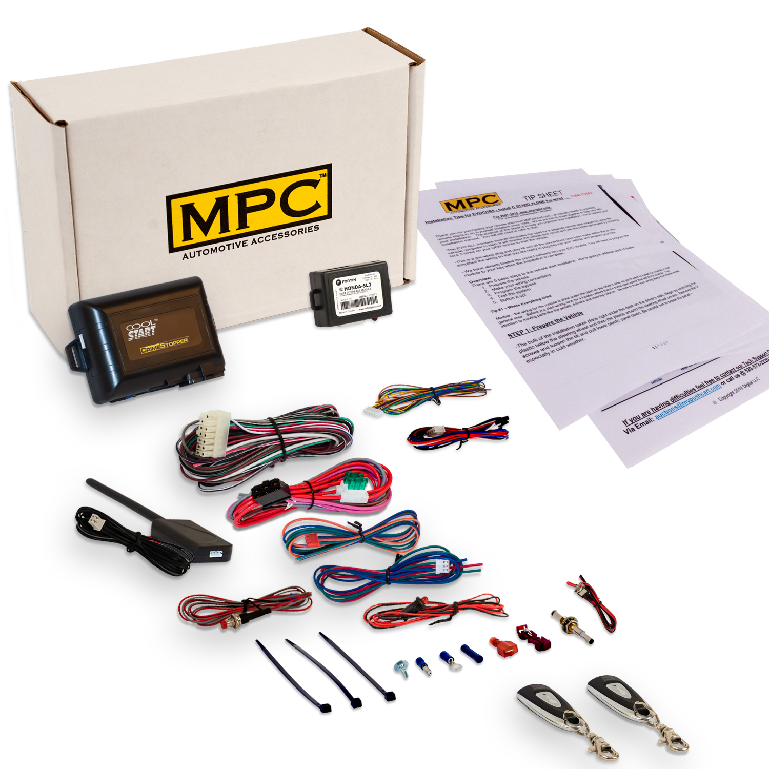 Complete 1-Button Remote Start/Remote Entry Kit for Honda and Acura ...