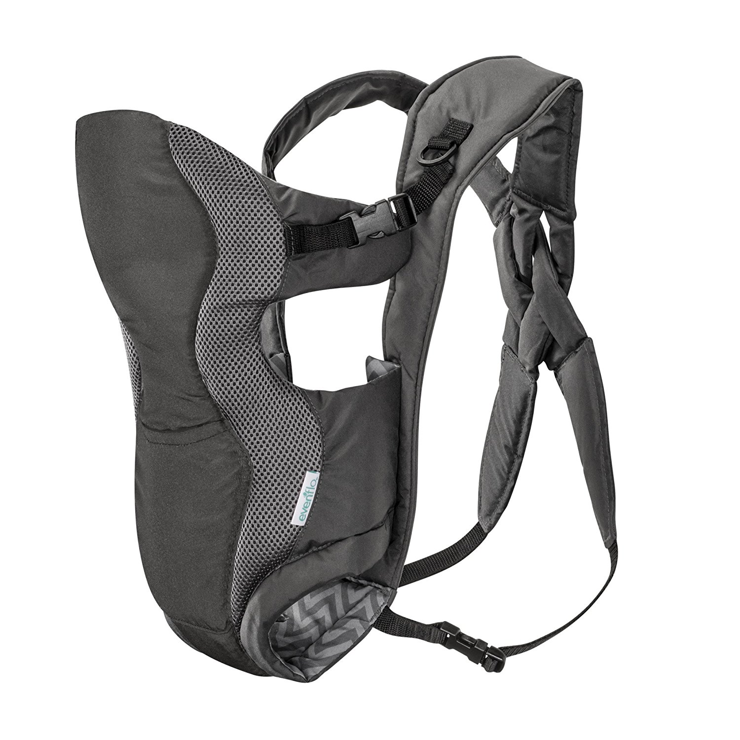 Breathable Soft Carrier, Grey Chevron, Discontinued 3in1 Front Infants Black Orange Sling Breathable Made... by Evenflo