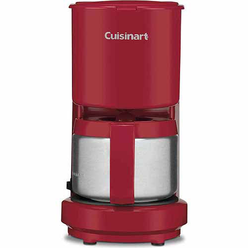 Cuisinart DCC450R 4-Cup Coffeemaker with Stainless Steel Carafe, Red