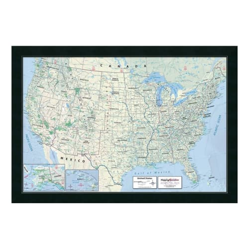 Amanti Art 2016 United States Map Classic Physical by Mapping Specialists Wall Art