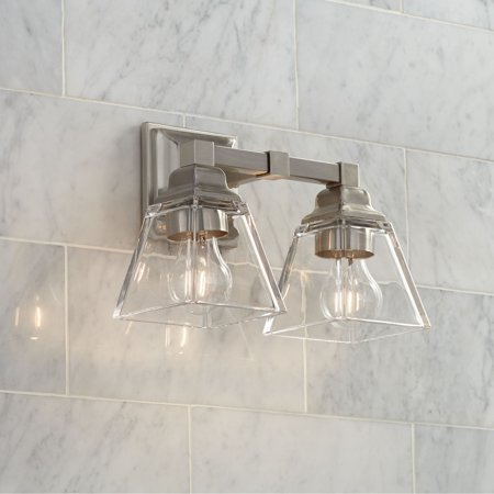 Regency Hill Wall Light Satin Nickel Hardwired 12 3/4