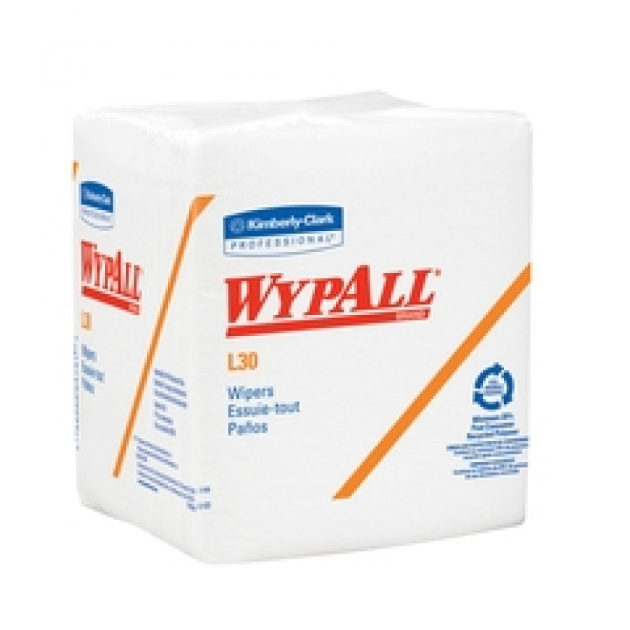 WypAll L30 Task Wipe ''White , 12.5 L x 12 W, 90 Count, Light Duty'' 4 Pack