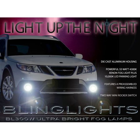 New 2008 2009 2010 2011 2012 Saab 9-3 93 Fog Lamps Lights Foglamps Sport Sedan Convertible Aero -