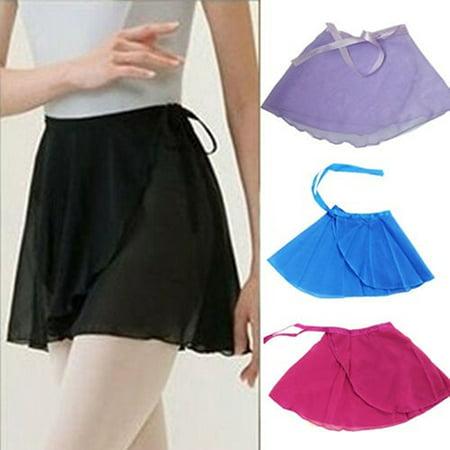 Obstce Girls Chiffon Cute Layered Ballet Tutu Skirt Skate Wrap Scarf Dance Wear Dress