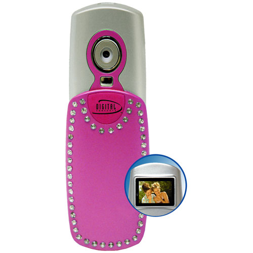 Digital Concepts Styleshot Digital Still Camera, VGA 640 x 480, with Color Preview Screen, 8mb Built-in Memory, Pink.