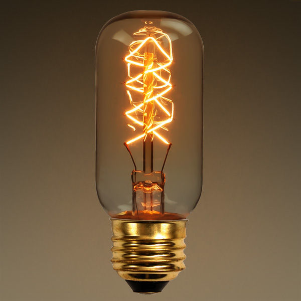 40 Watt - Vintage Antique Light Bulb - Radio Style - Diamond Filament - Multiple Supports