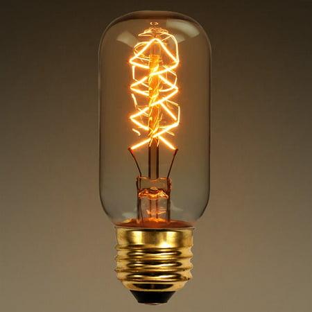 40 Watt - Vintage Antique Light Bulb - Radio Style - Diamond Filament - Multiple Supports ()