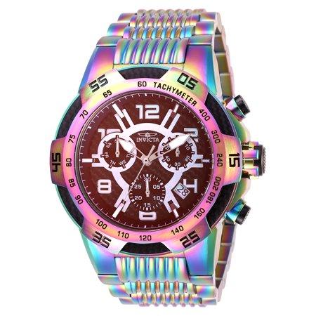 Invicta Men's 28013 Speedway Quartz Chronograph Rainbow Dial Watch Rainbow Aura Quartz