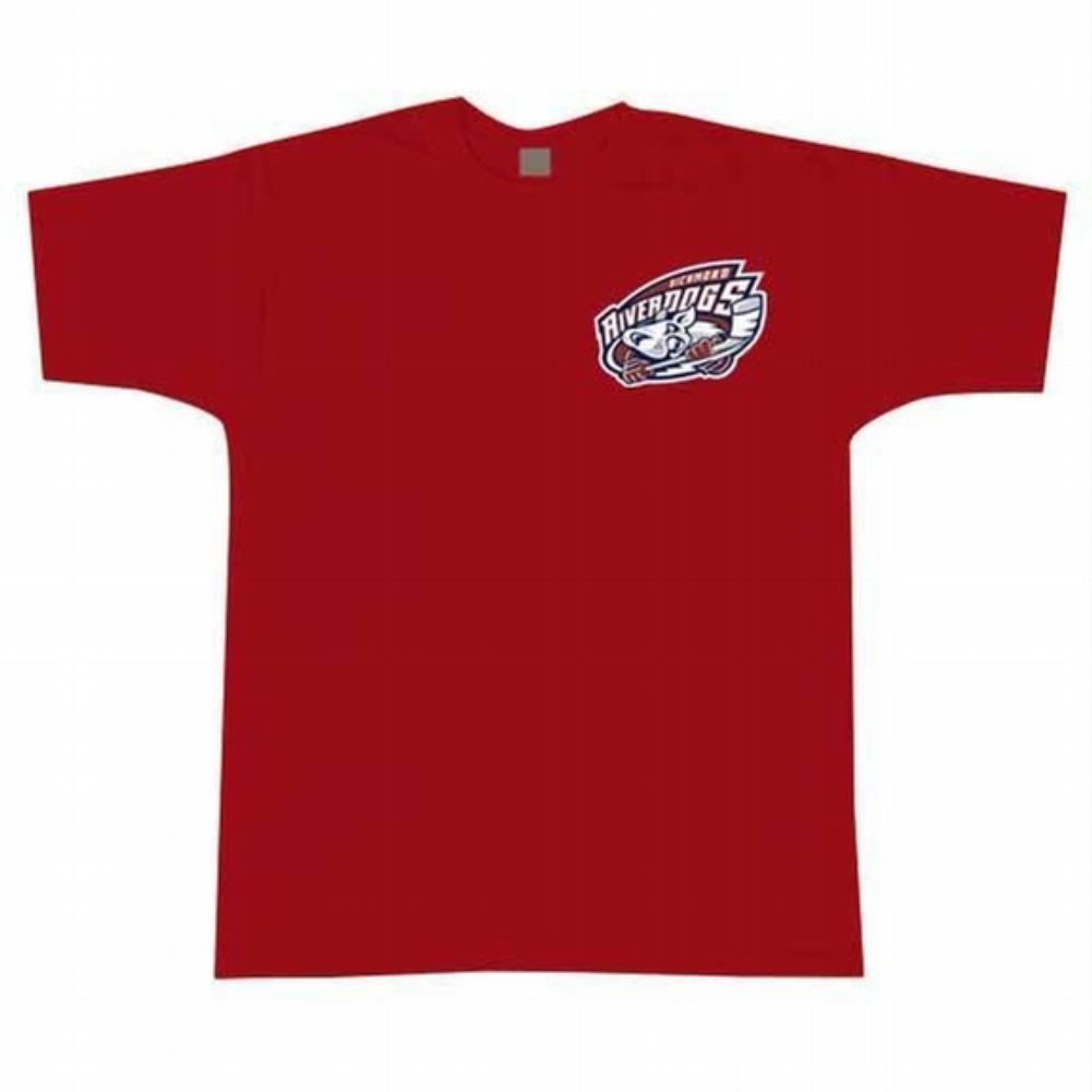 Richmond Riverdogs Logo Adult Mens Long Sleeve Shirt
