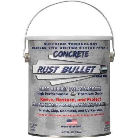 Rust Bullet Metallic Gray Coating for Concrete 1 gal. Pail