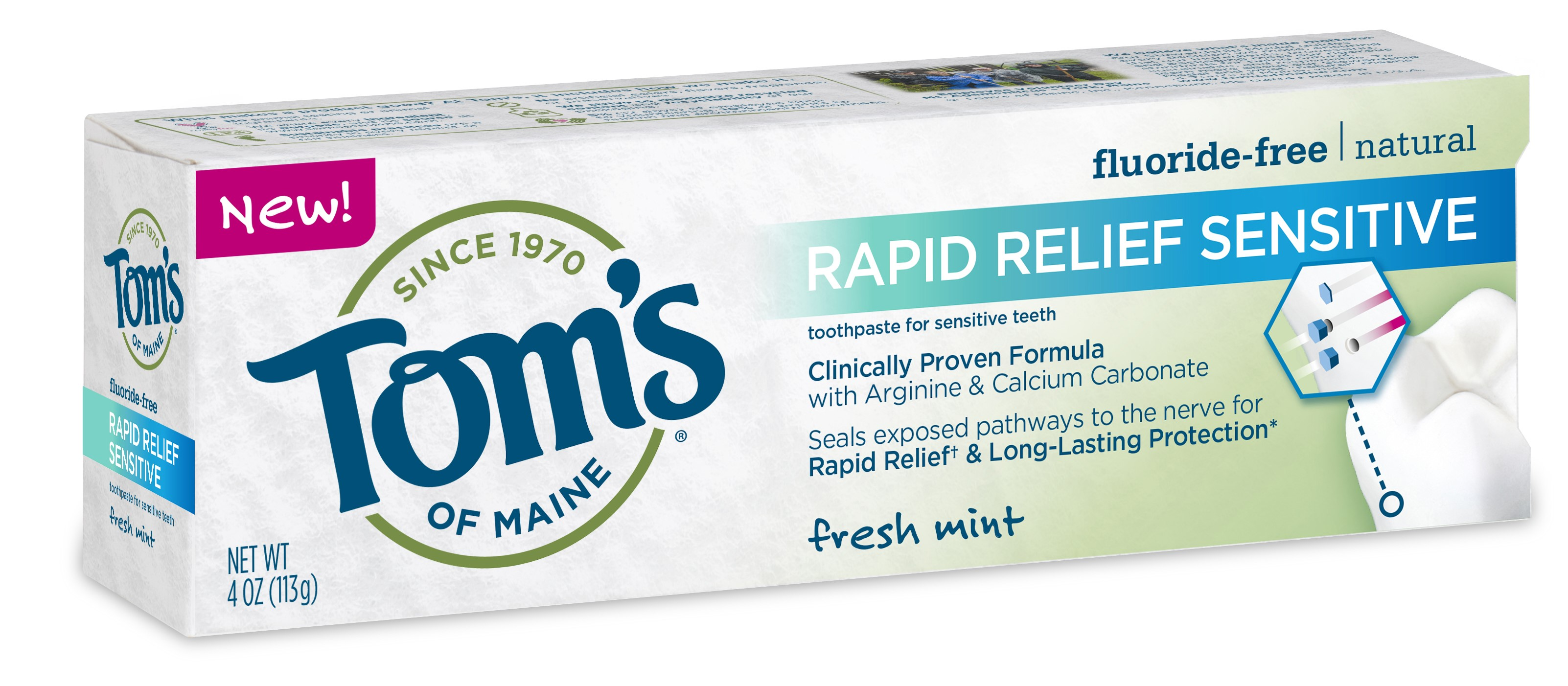 Toms of Maine Rapid Relief Fluoride Free Sensitive Toothpaste