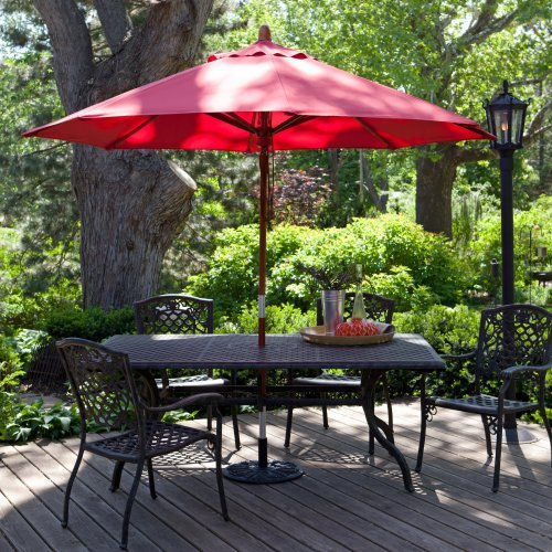Coral Coast 9-ft. Pacifica Wood Market Umbrella