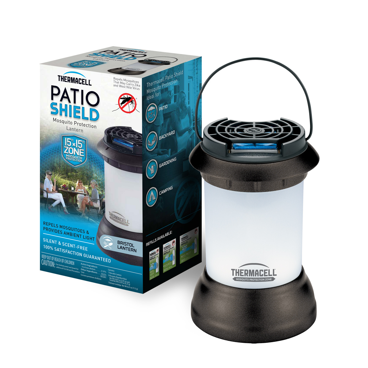 Thermacell Mosquito Repellent Bristol Lantern, Repellent + Light