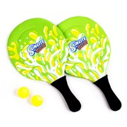 Sunlite Sports Beach Paddle Game Set, 2 Paddles and 2 Balls, Perfect for Backyard Fun or Outdoor or Beach or Lawn - Green