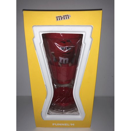 M&M's World Candy Red Funnel Dispenser New with Box (Halloween M&m Dispenser)