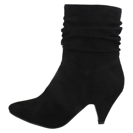 Spot On Womens/Ladies Mid Heel Rouched Ankle Boots - image 3 of 5