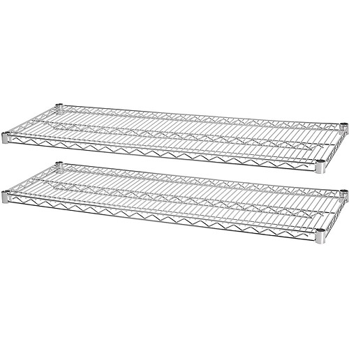 Lorell Industrial Wire Shelving Starter Extra Shelves, Chrome