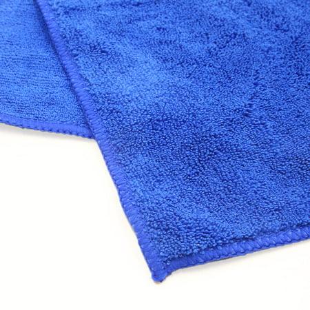 2Pcs Microfiber Car Wash Cleaning Towel Buffing Cloth Polishing Tool Blue Purple - image 4 de 5