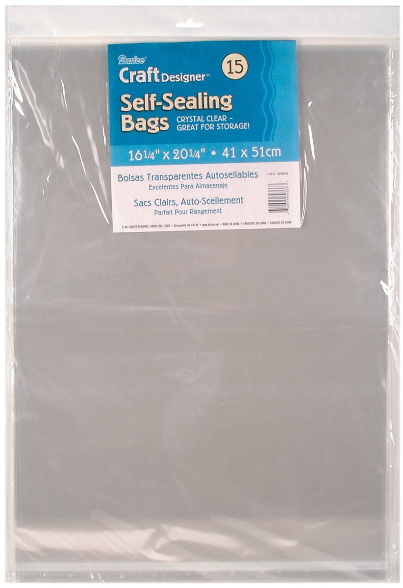 Plastic Self Sealing Bags Clear 11.25 X 14.25 Inches