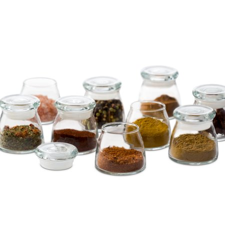 Libbey Vibe Mini Glass Jars with Lids, Set of 12 (Mini Glass Jars With Lids)