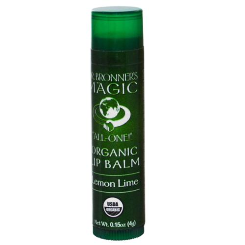 Dr.Bronners Sun Dogs Organic Magic Lip Balm, Lemon Lime, 0.15 Oz