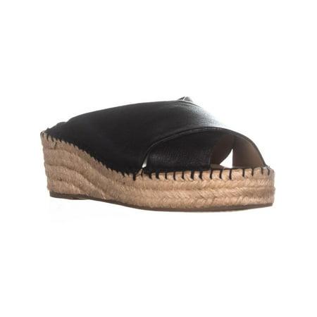 e4aa6cb4a1d Womens Franco Sarto Polina Espadrille Wedge Sandals, Black Leather