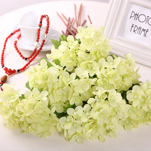 Micelec 1 Pc Artificial Hydrangea Party Wedding Bridal Home Fake Flowers Decor