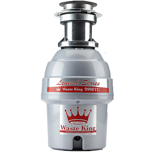 Waste King 9900-TC Legend Series 3/4-HP Professional 3-Bolt Mount Batch-Feed Garbage Disposer