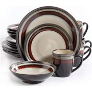 Ge Lewisville Dinnerware Set, Red - 16 Piece