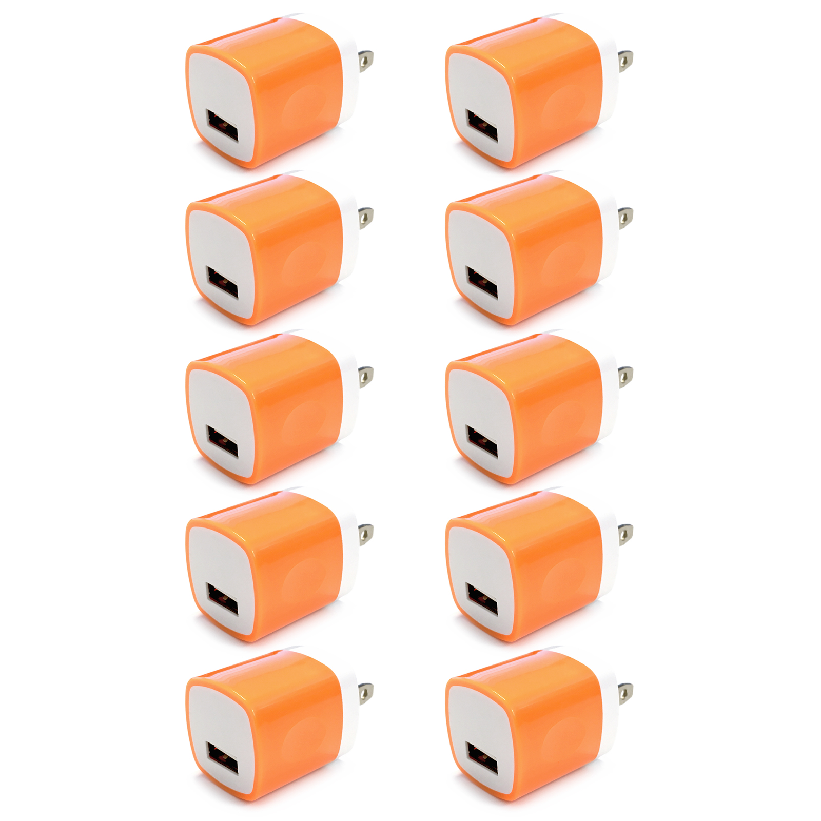 10x USB Wall Charger, Charger Adapter, FREEDOMTECH 1Amp Single Port Quick Charger Plug Cube for iPhone 7/6S/6S Plus/6 Plus/6/5S/5, Samsung Galaxy S7/S6/S5 Edge, LG, HTC, Huawei, Moto, Kindle and More