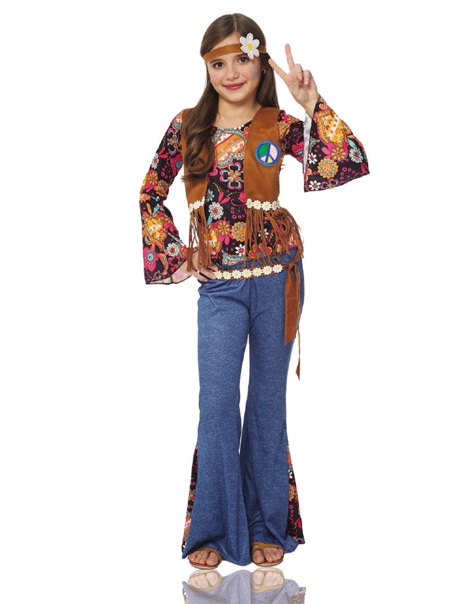 sc 1 st  Walmart & Peace Out Hippie Kids Costume - Walmart.com